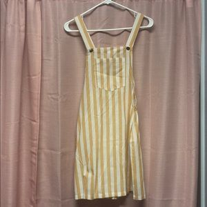 Striped Overall Dress